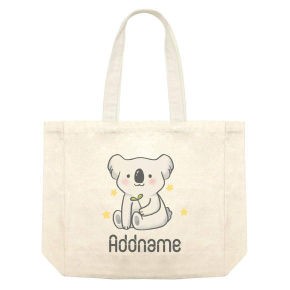 Cute Hand Drawn Style Koala Addname Shopping Bag