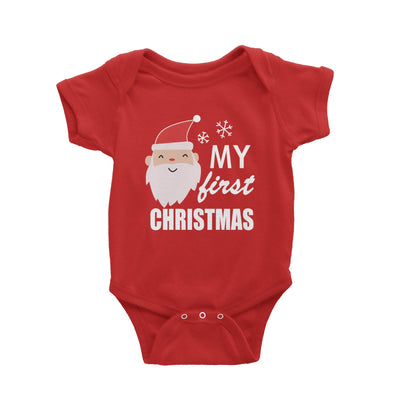 My First Christmas with Santa Romper Baby Romper  Cute