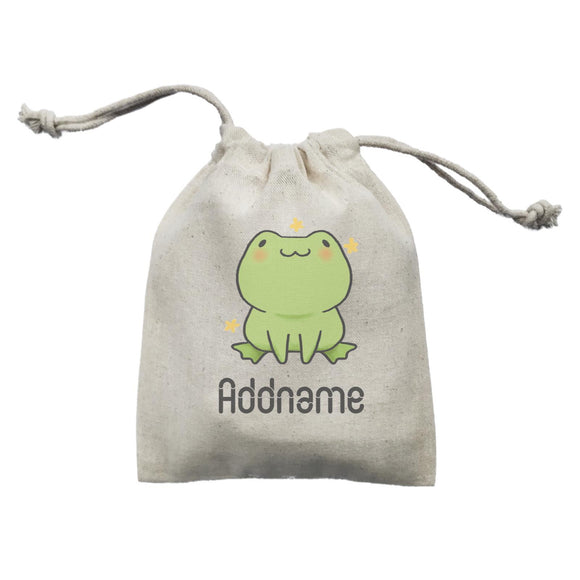 Cute Hand Drawn Style Frog Addname Mini Accessories Mini Pouch