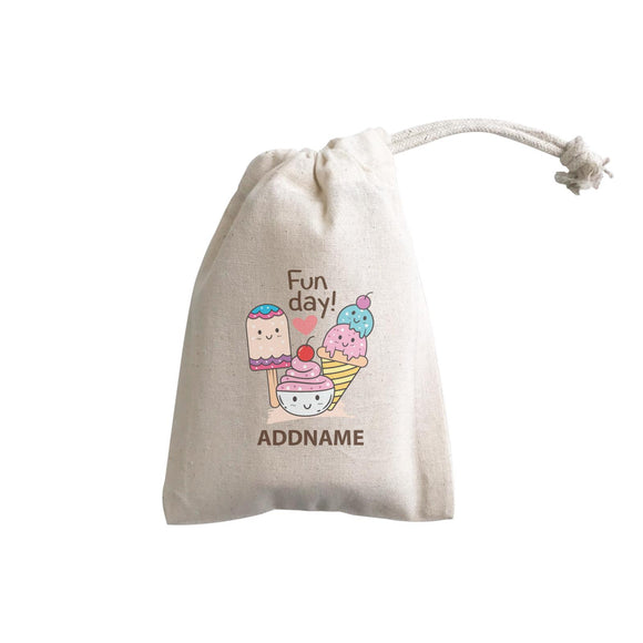 Cool Cute Foods Fun Day Ice Cream Addname GP Gift Pouch