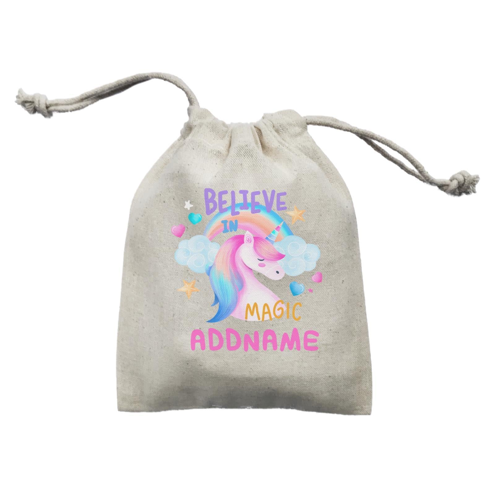 Children's Day Gift Series Believe In Magic Unicorn Addname  Mini Pouch