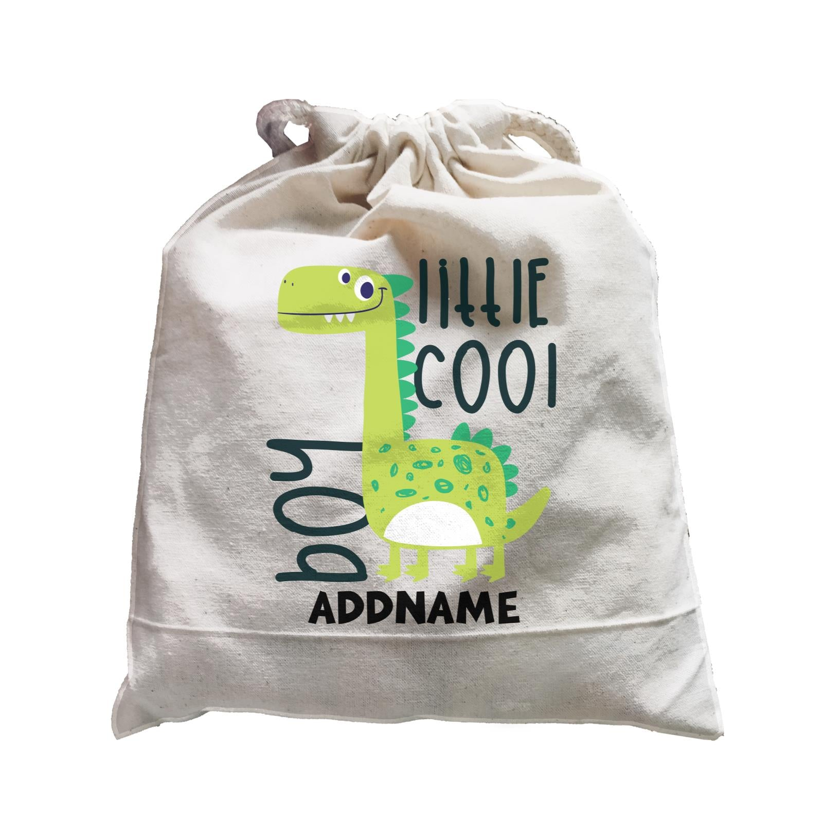 Little Cool Boy Dinosaur Addname Bag Satchel