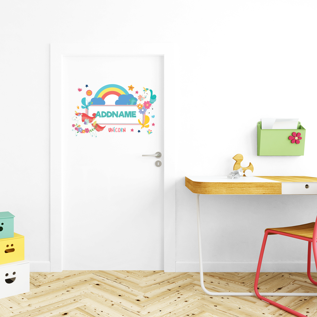 Fabulous Unicorn Kiddies Door Sticker