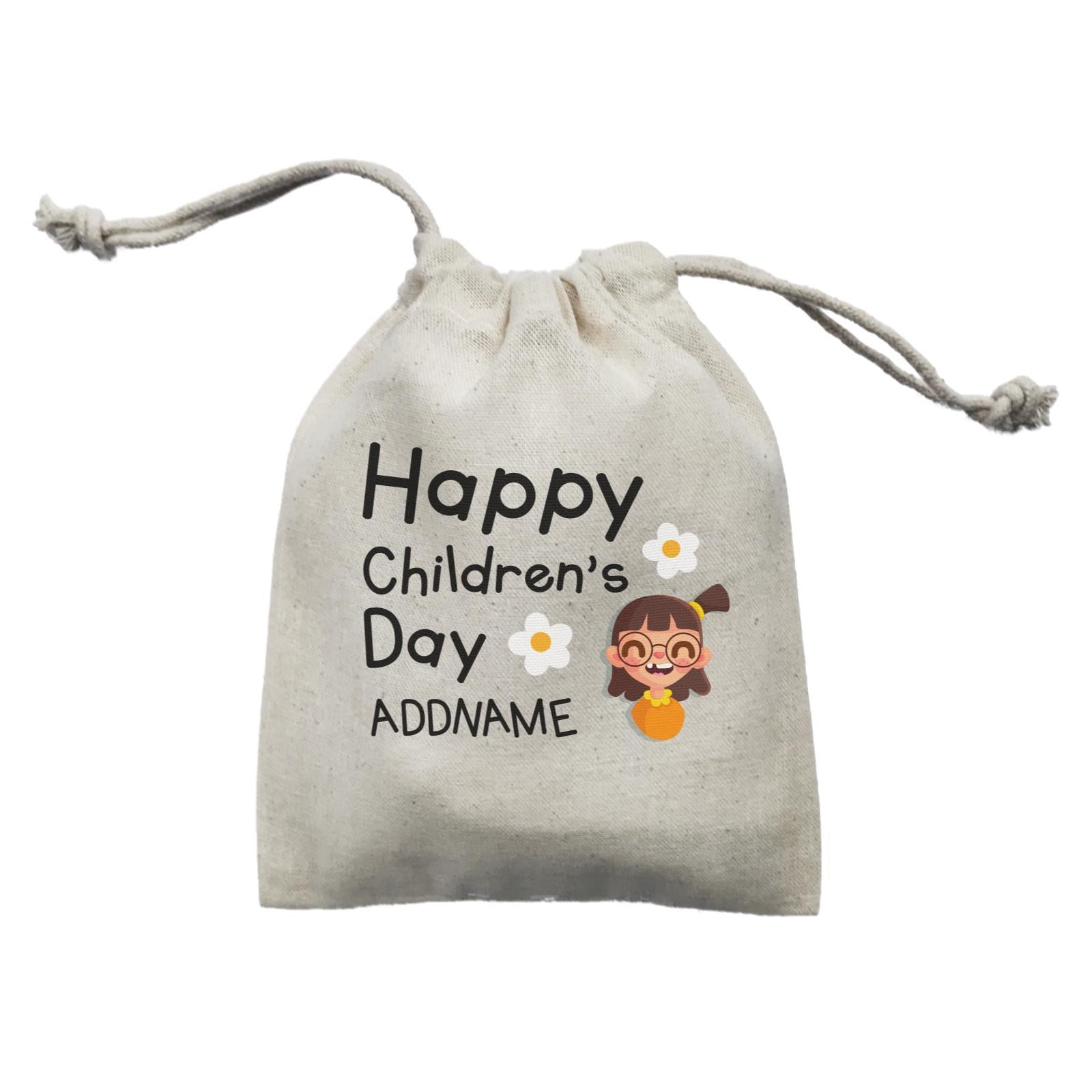 Children's Day Gift Series Happy Children's Day Cute Girl Addname  Mini Pouch
