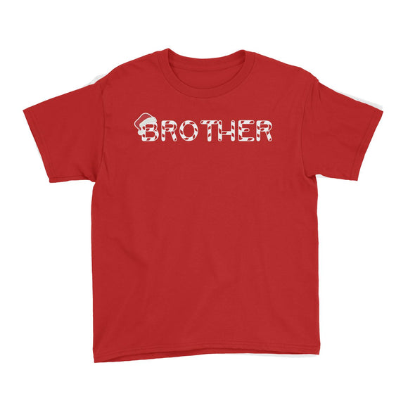 Candy Cane Alphabet Brother with Santa Hat Kid's T-Shirt