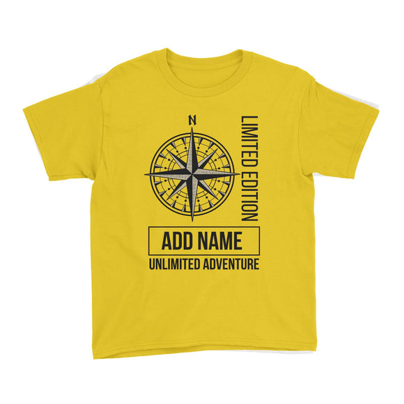 Limited Edition Compass Unlimited Adventure Personalizable with Name Kid's T-Shirt