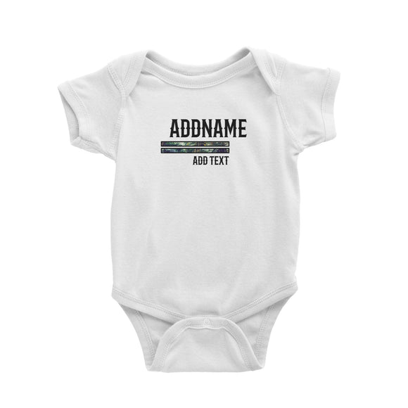 Beach Trees Bars Personalizable with Name Year and Text Baby Romper