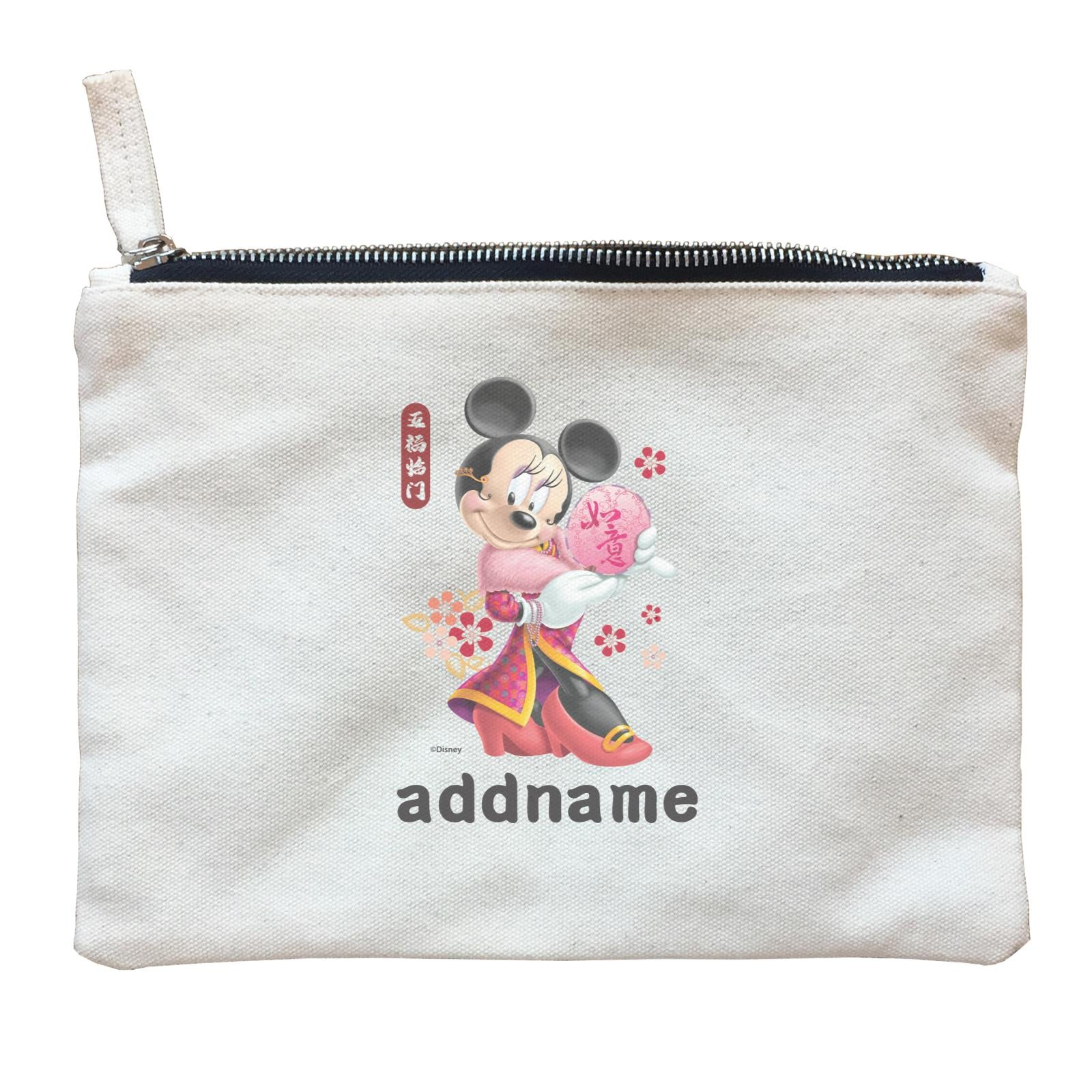 Disney CNY Minnie With Fan Personalised ZP Zipper Pouch