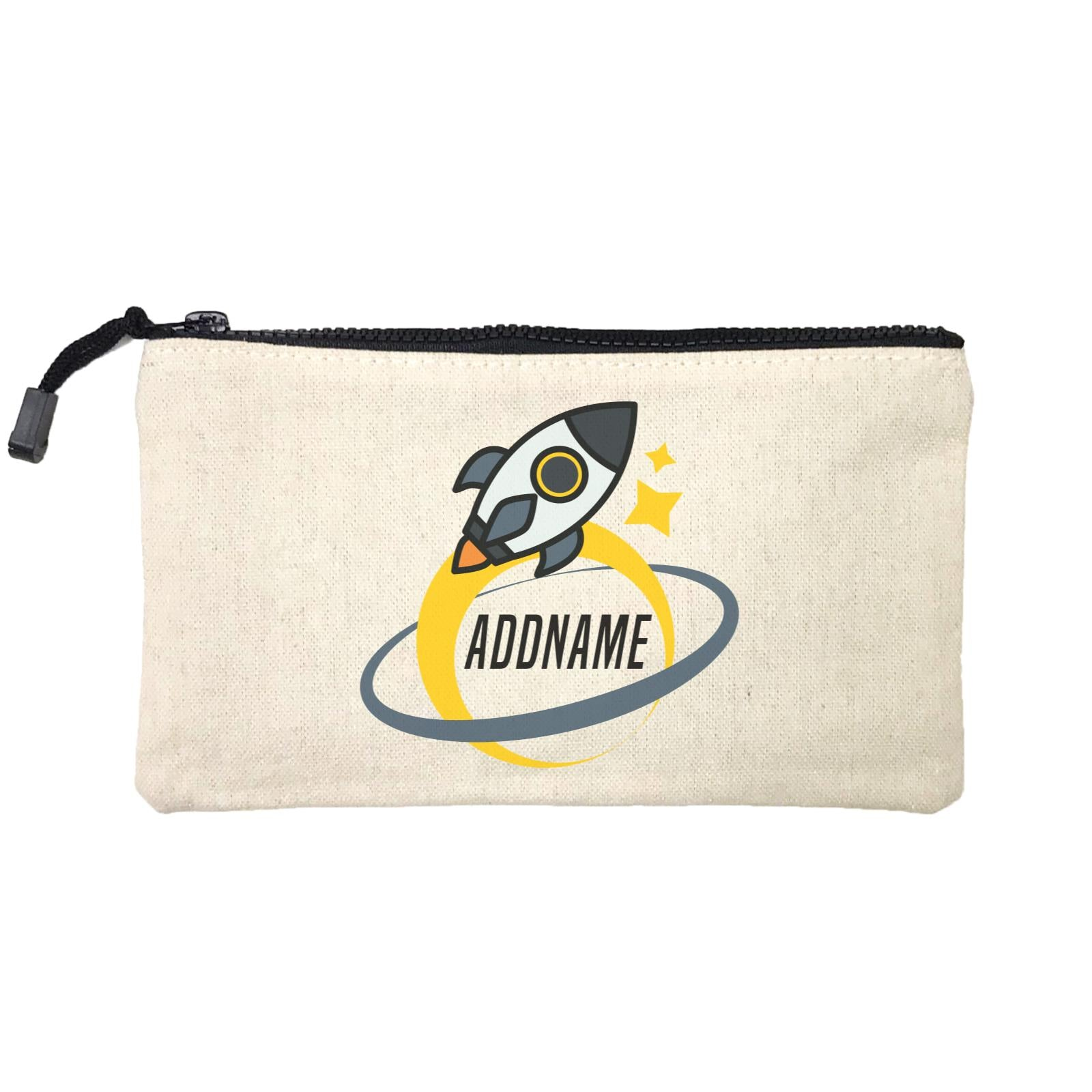 Birthday Rocket To Galaxy Moon And Star Addname Mini Accessories Stationery Pouch