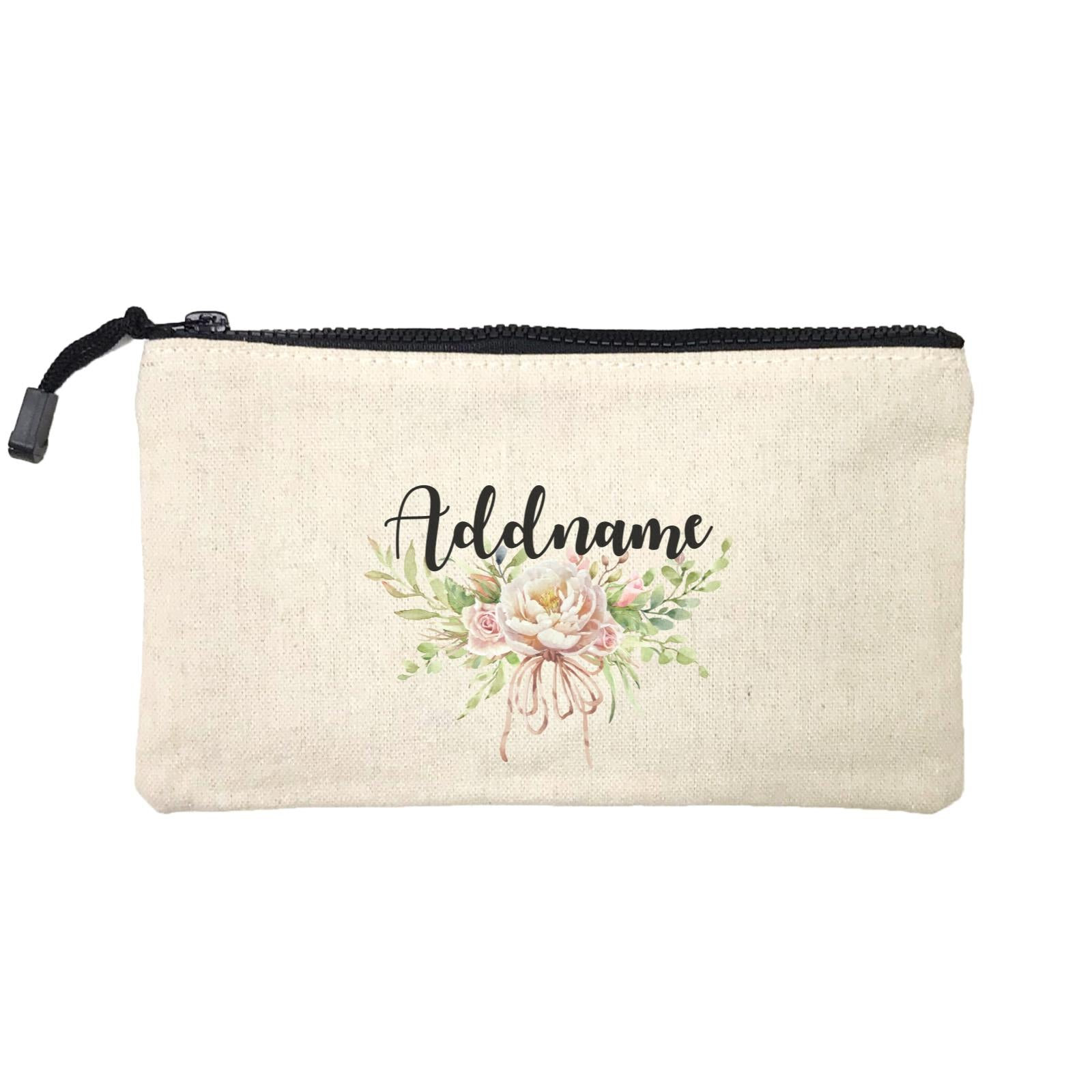 Bridesmaid Floral Sweet 2 Watercolour Big Flower Addname Mini Accessories Stationery Pouch
