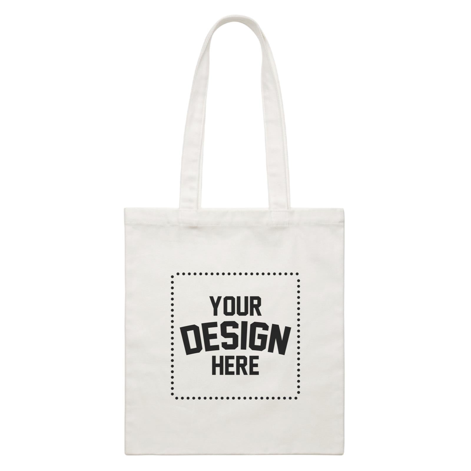 Custom Your Own Design White White Canvas Bag