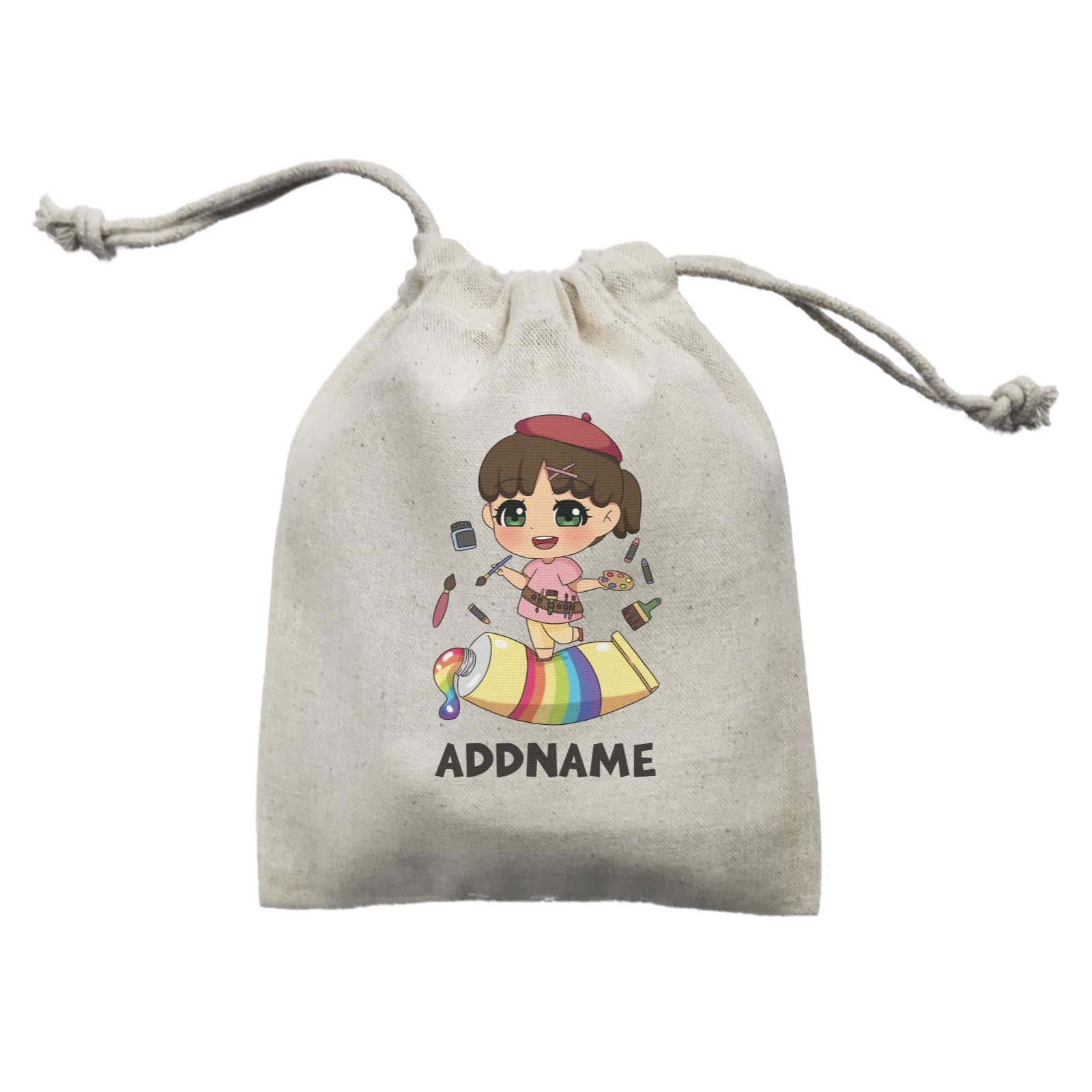 Children's Day Gift Series Artist Little Girl Addname  Mini Pouch