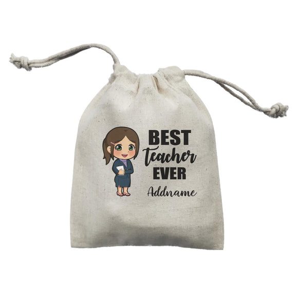 Chibi Teachers Chinese Woman Best Teacher Ever Addname Mini Accessories Mini Pouch