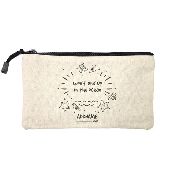 Wont End Up In The Ocean Doodle Addname Mini Accessories Stationery Pouch