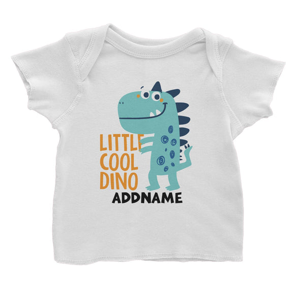 40ab4e3423 Little Cool Dino Addname Baby T-Shirt