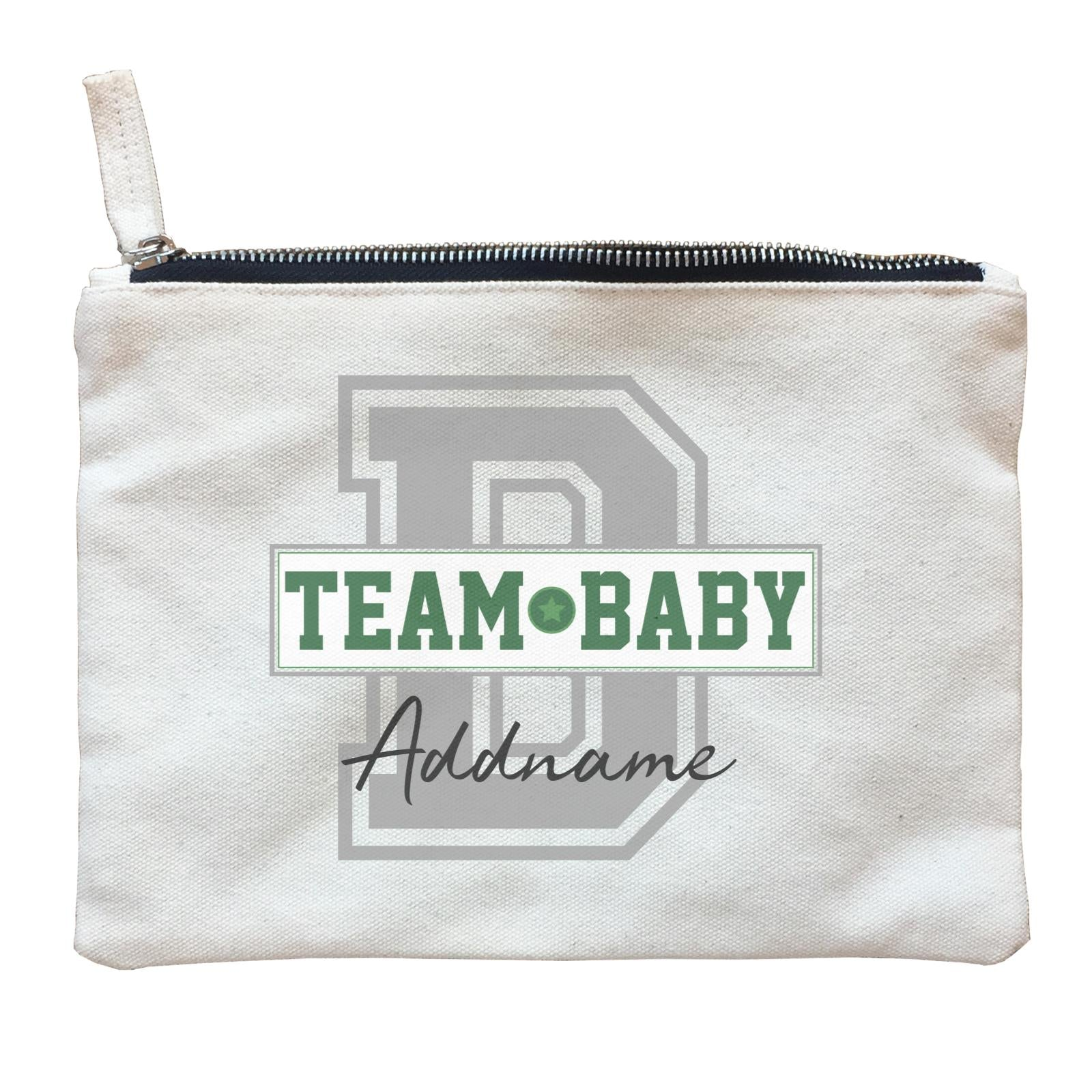 Team Baby Addname Zipper Pouch
