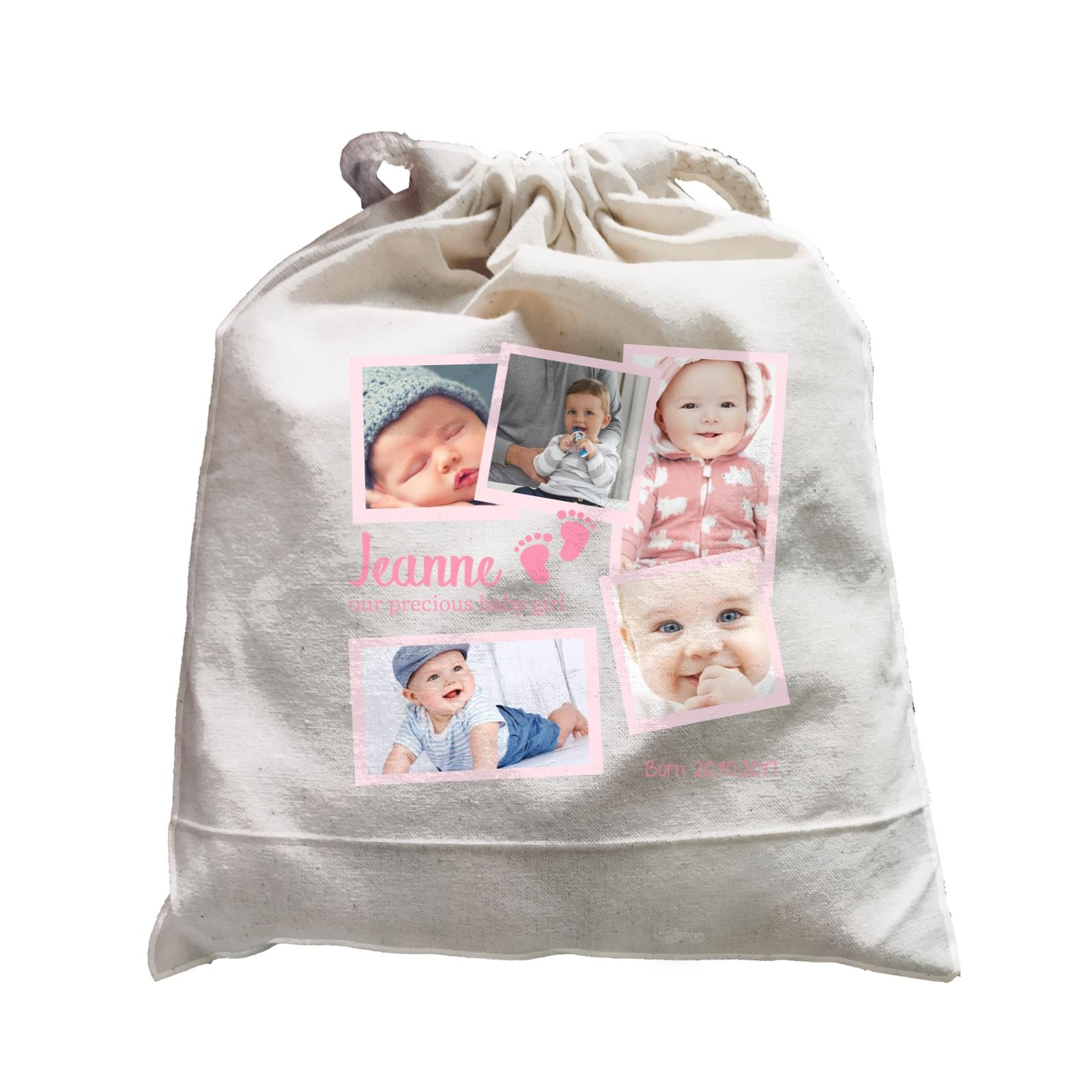 Photo Gift Series Sweet Baby Girl Milestone Satchel