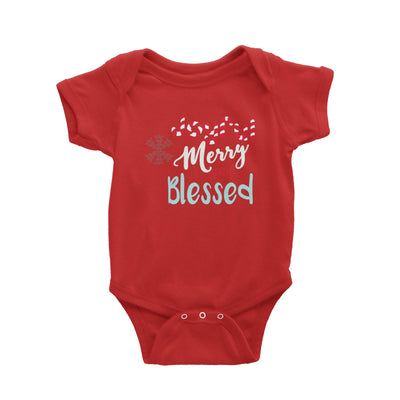 Joyful Merry and Blessed Baby Romper Christmas