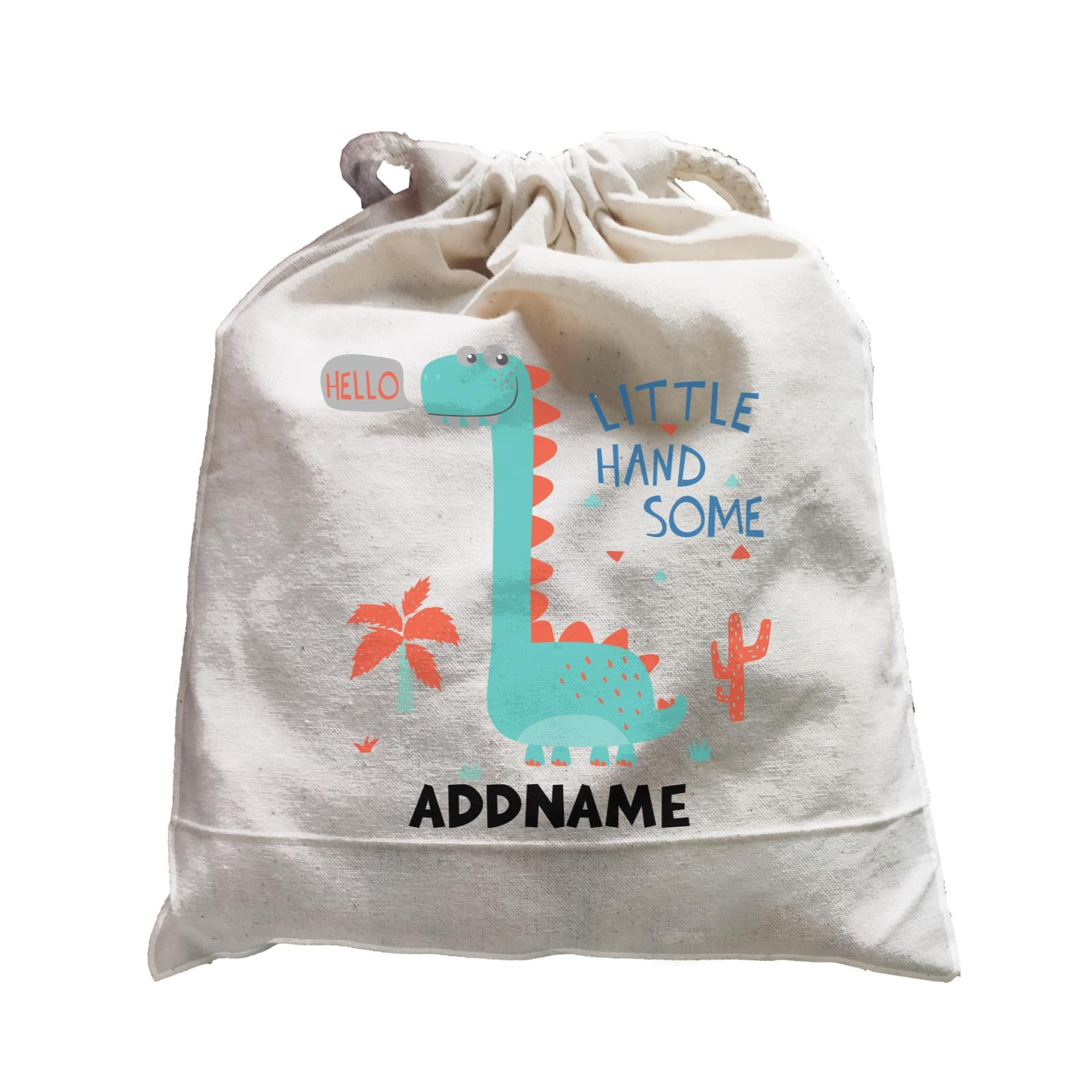Hello Little Handsome Dinosaur Addname Bag Satchel