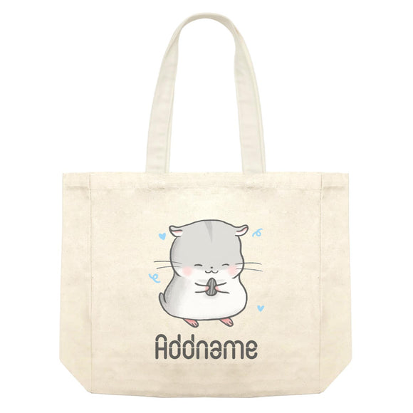 Cute Hand Drawn Style Hamster Addname Shopping Bag