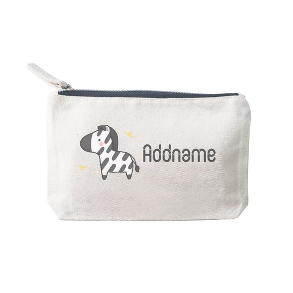 Cute Hand Drawn Style Zebra Addname SP Stationery Pouch 2