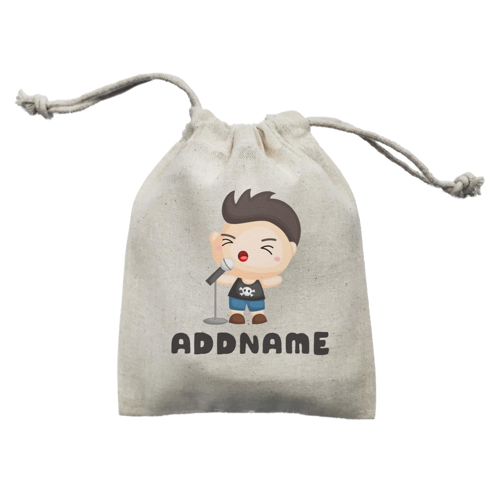 Birthday Music Band Boy Singing Mic Addname Mini Accessories Mini Pouch