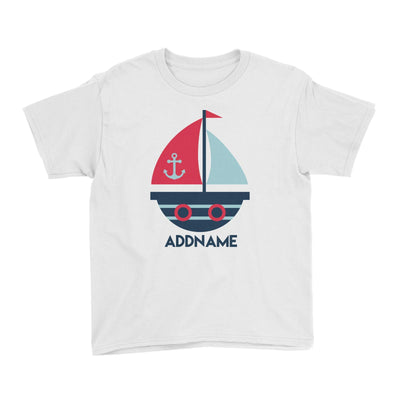 Sailor Boat Addname Kid's T-Shirt  Matching Family Personalizable Designs