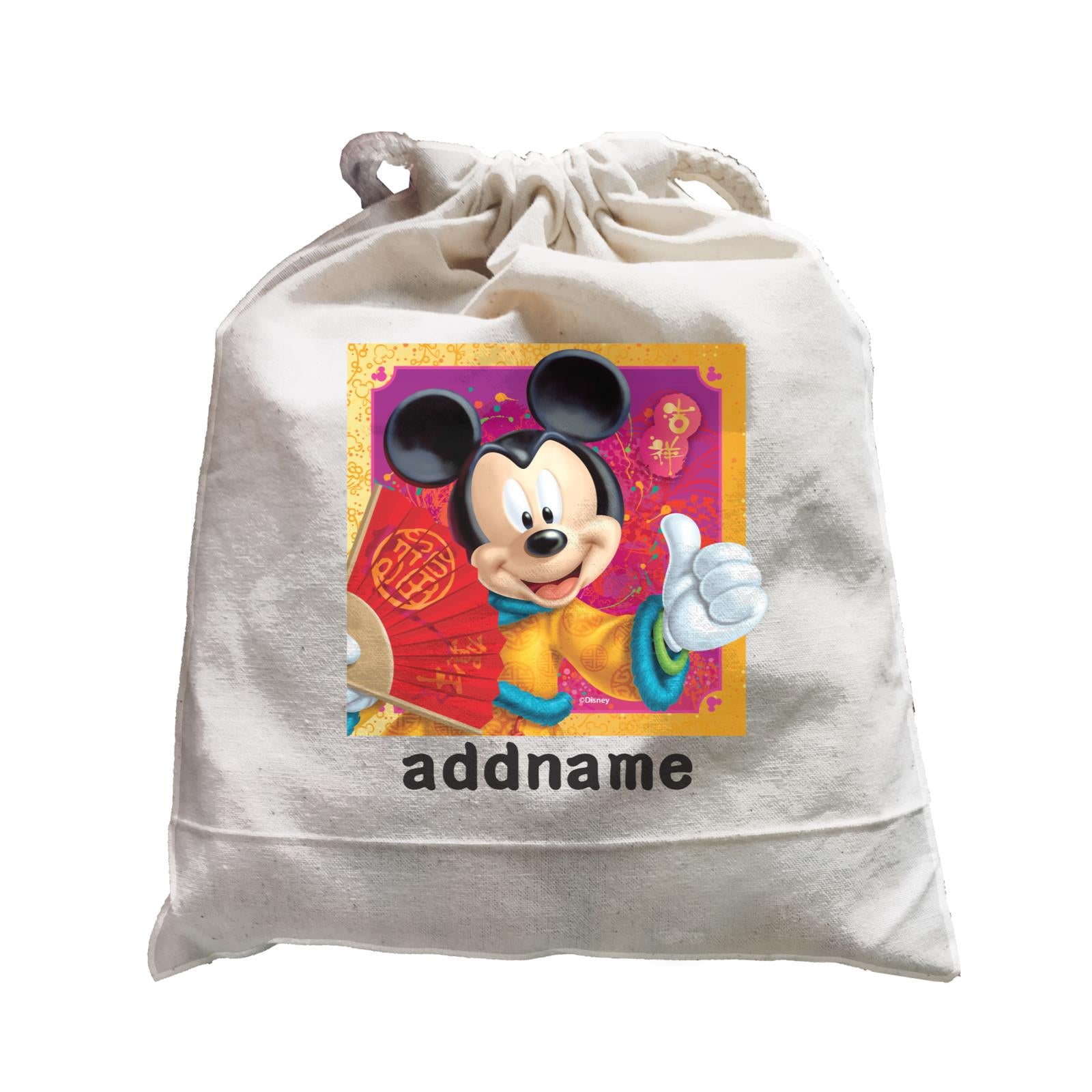 Disney CNY Mickey With Fan Personalised SAT Satchel