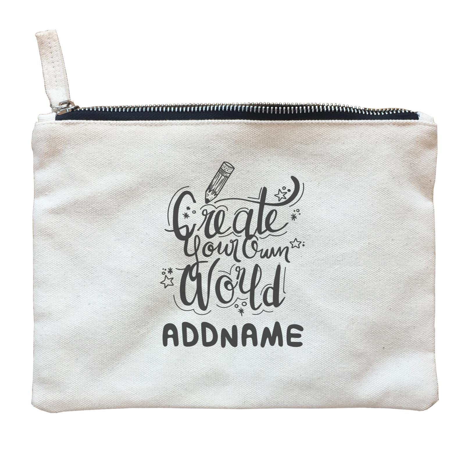 Children's Day Gift Series Create Your Own World Addname  Zipper Pouch