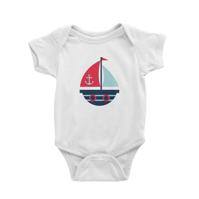 Sailor Boat Baby Romper  Matching Family Personalizable Designs