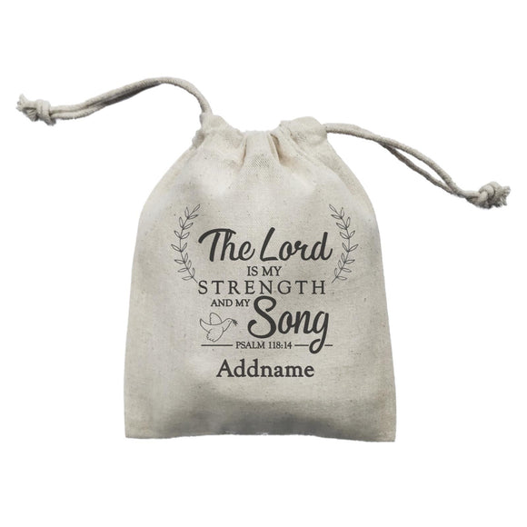 Christian Series The Lord Is My Strength Song Psalm 118.14 Addname Mini Accessories Mini Pouch