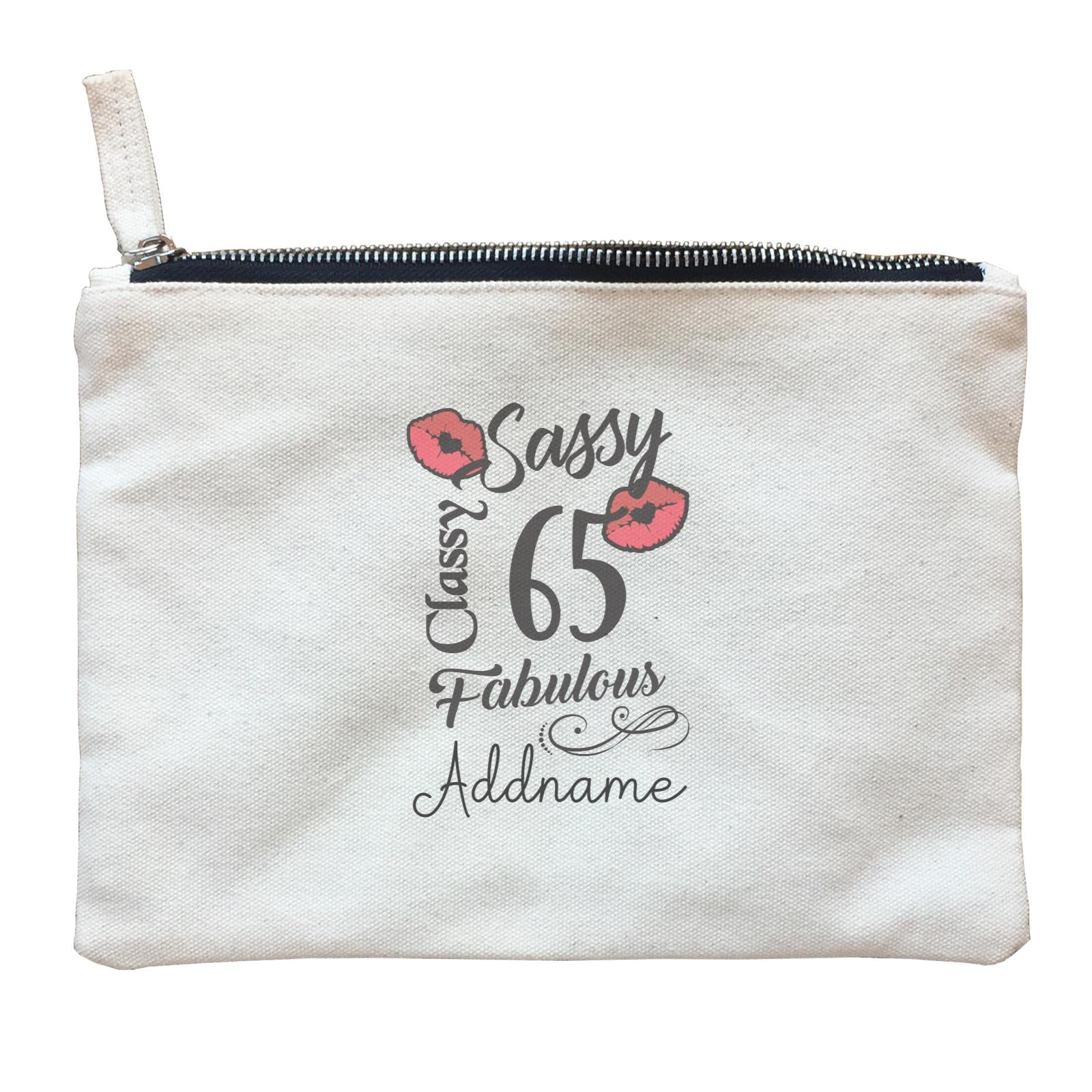 Personalize It Birthyear Sassy Classy and Fabulous with Addname and Add Year Zipper Pouch