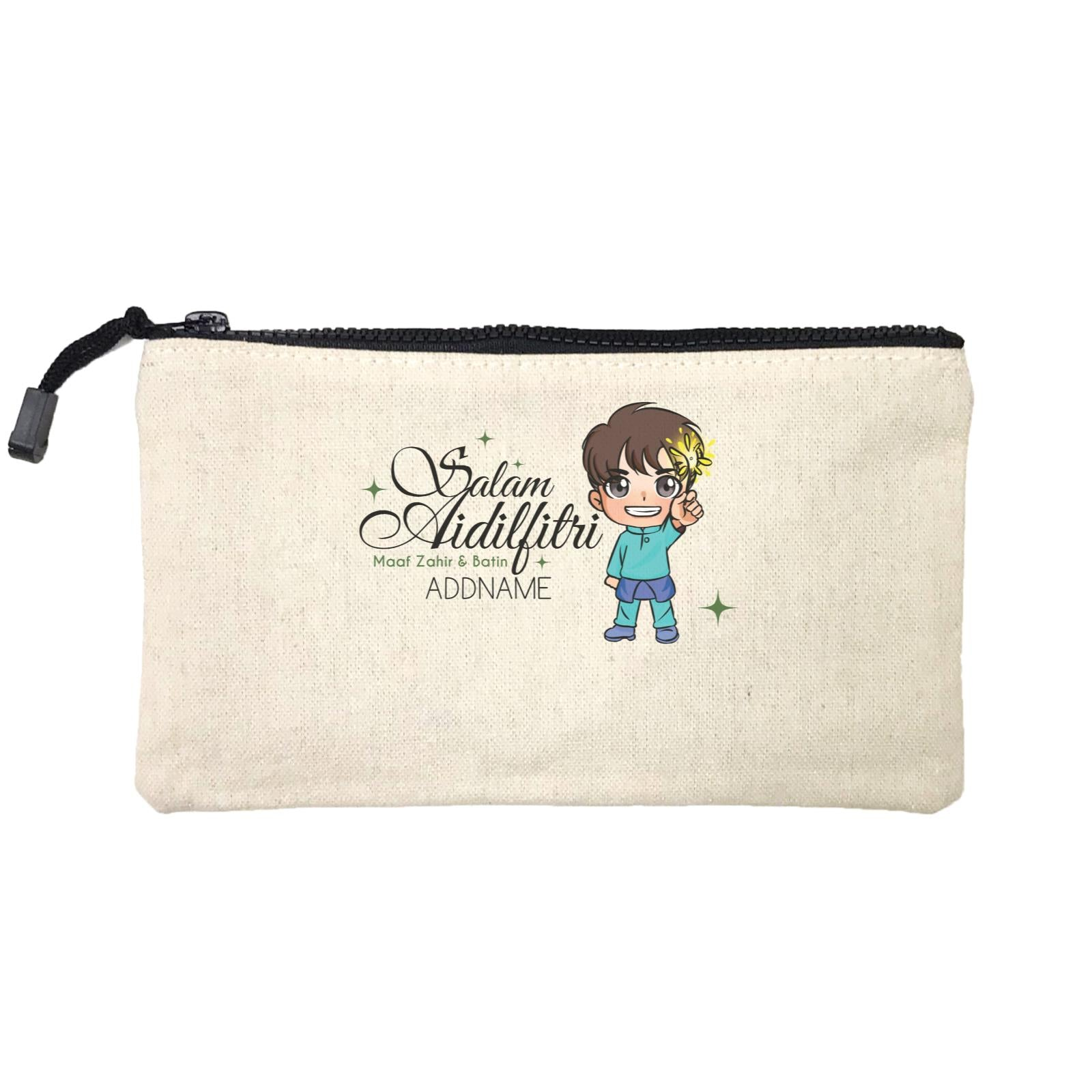 Raya Chibi Wishes Little Boy Addname Wishes Everyone Salam Aidilfitri Maaf Zahir & Batin Mini Accessories Stationery Pouch