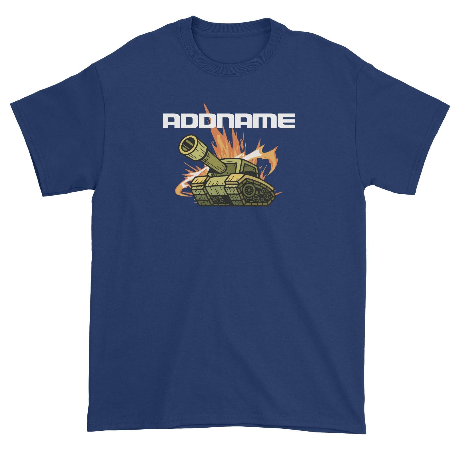 Birthday Battle Theme Tank Addname Unisex T-Shirt