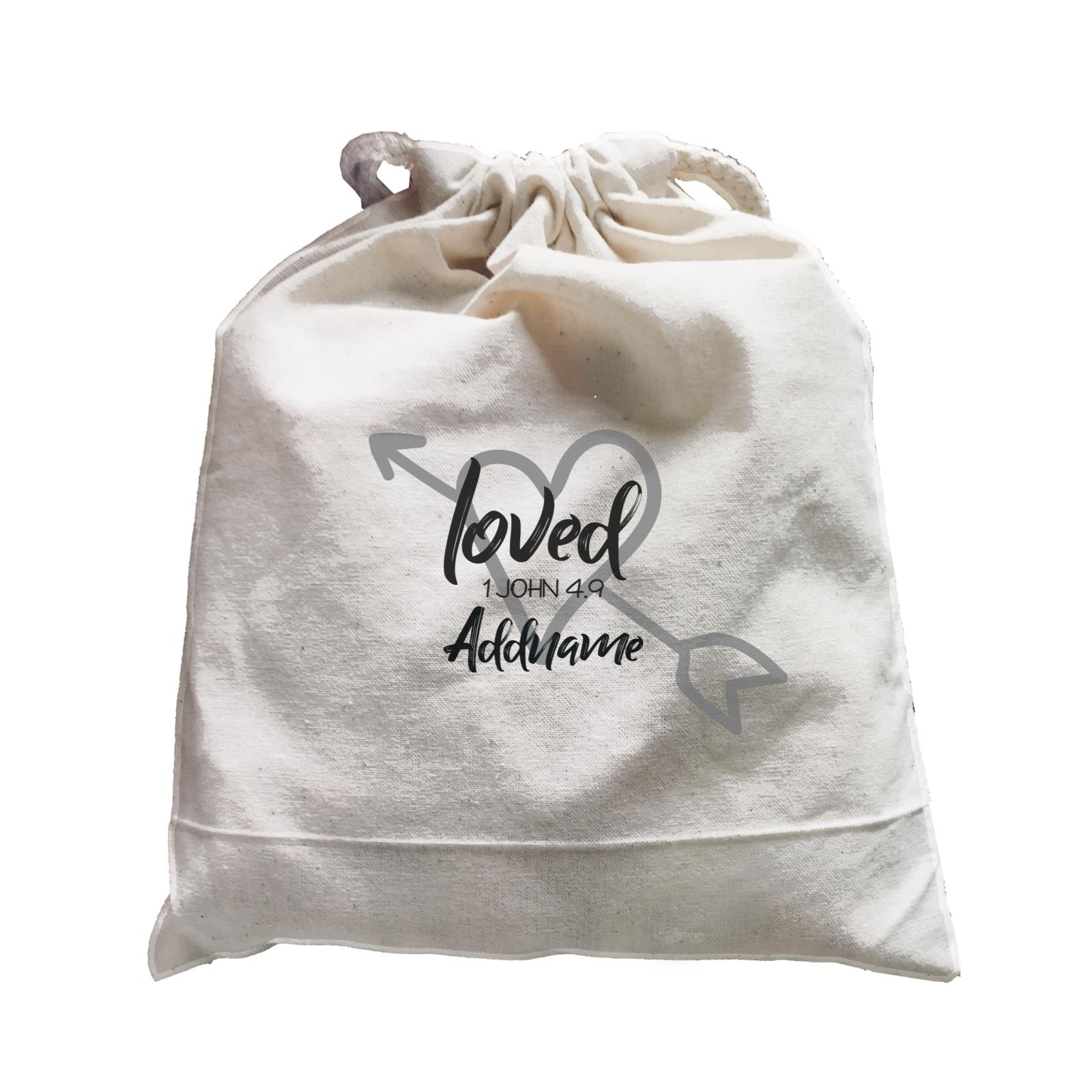 Loved Family Loved With Heart And Arrow 1 John 4.9 Addname Accessories Satchel