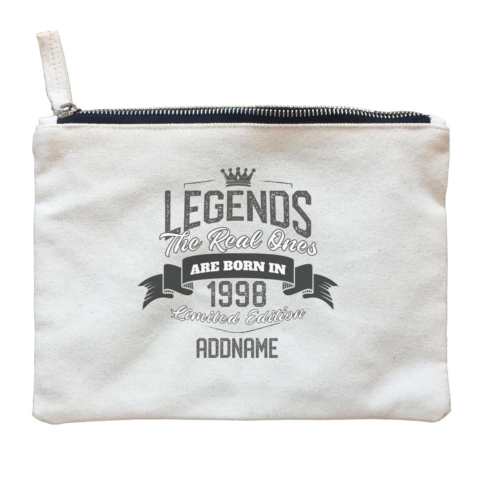 Personalize It Birthyear Legends The Real Ones Are Born In Limited Edition with Addname and Add Year Zipper Pouch