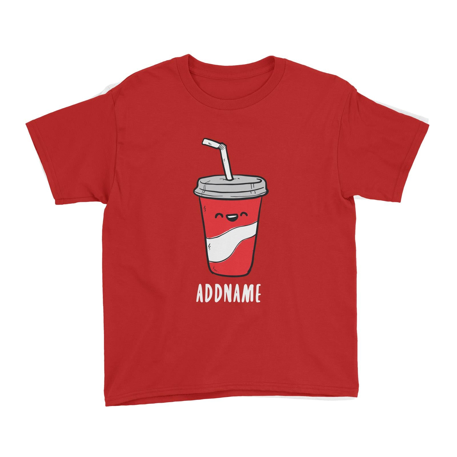 Fast Food Coke Addname Kid's T-Shirt  Comic Cartoon Matching Family Personalizable Designs
