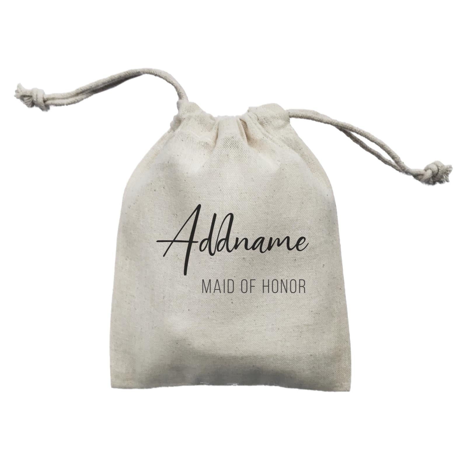 Bridesmaid Calligraphy Addname Modern Maid Of Honour Mini Accessories Mini Pouch