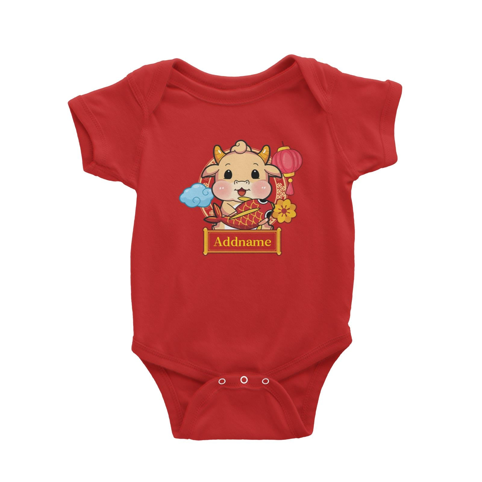 [CNY 2021] Golden Cow with Koi Fish Baby Romper