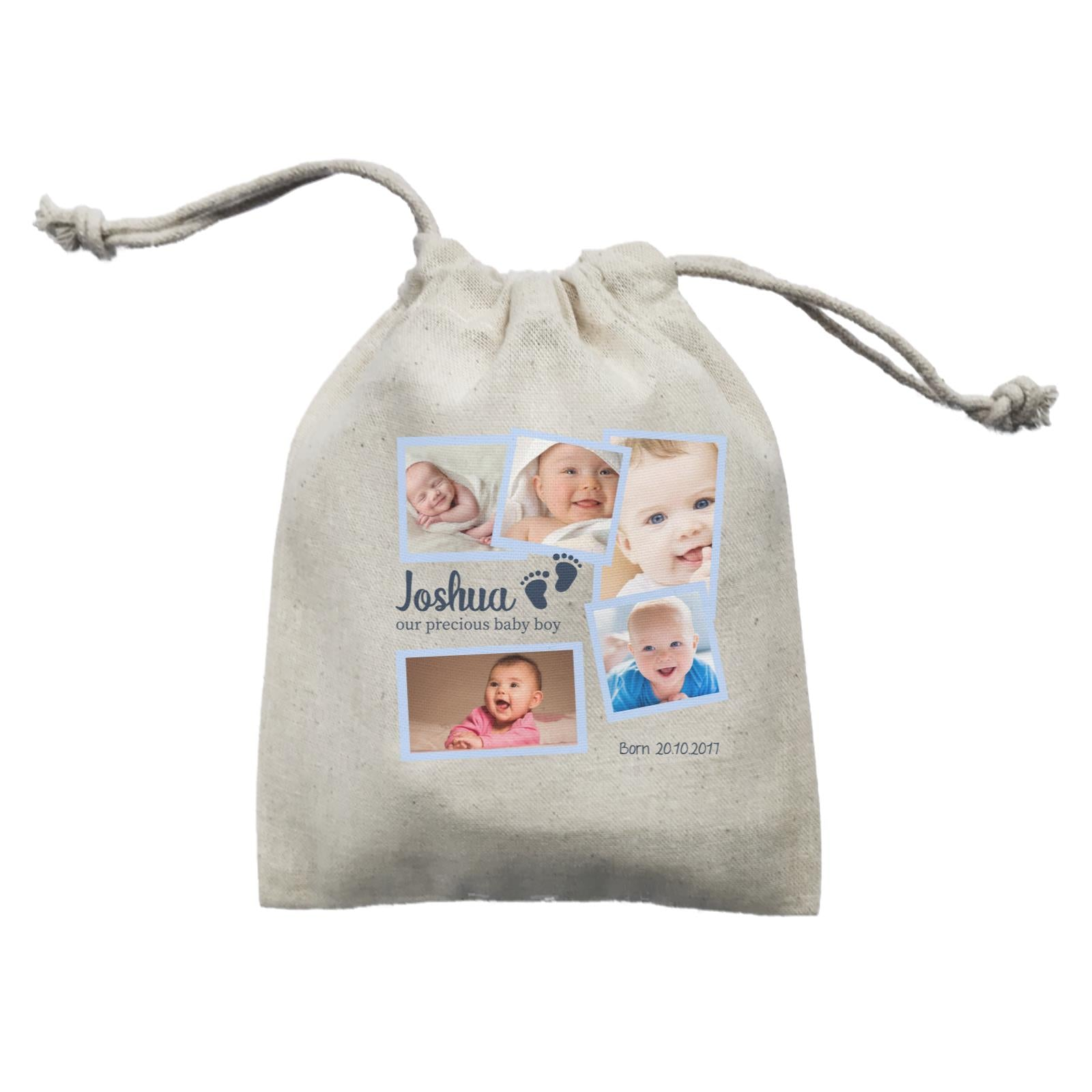Photo Gift Series Sweet Baby Boy Milestone Mini Accessories Mini Pouch