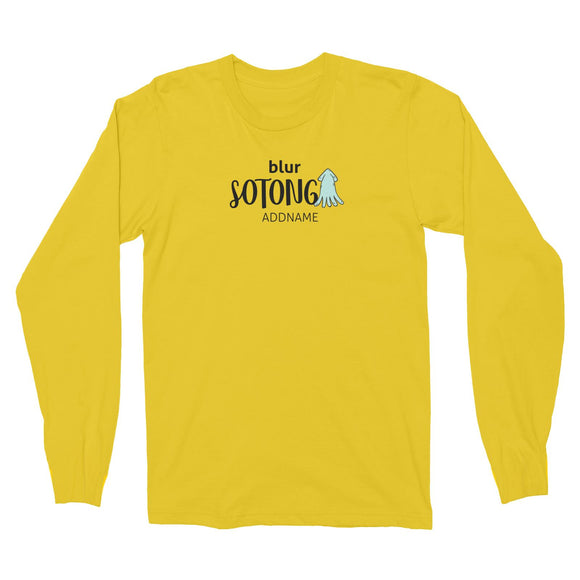 Blur Sotong Long Sleeve Unisex T-Shirt