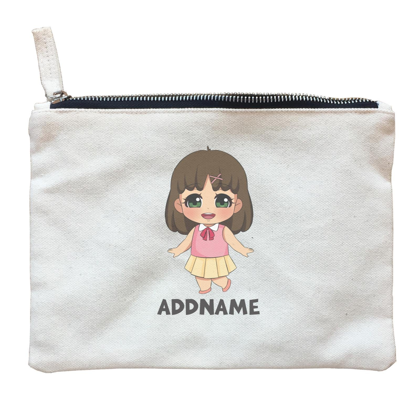Children's Day Gift Series Little Chinese Girl Addname  Zipper Pouch