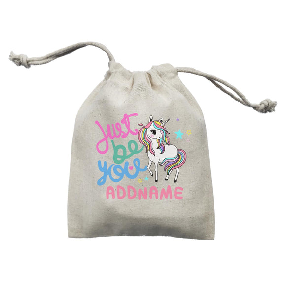Children's Day Gift Series Just Be You Cute Unicorn Addname  Mini Pouch