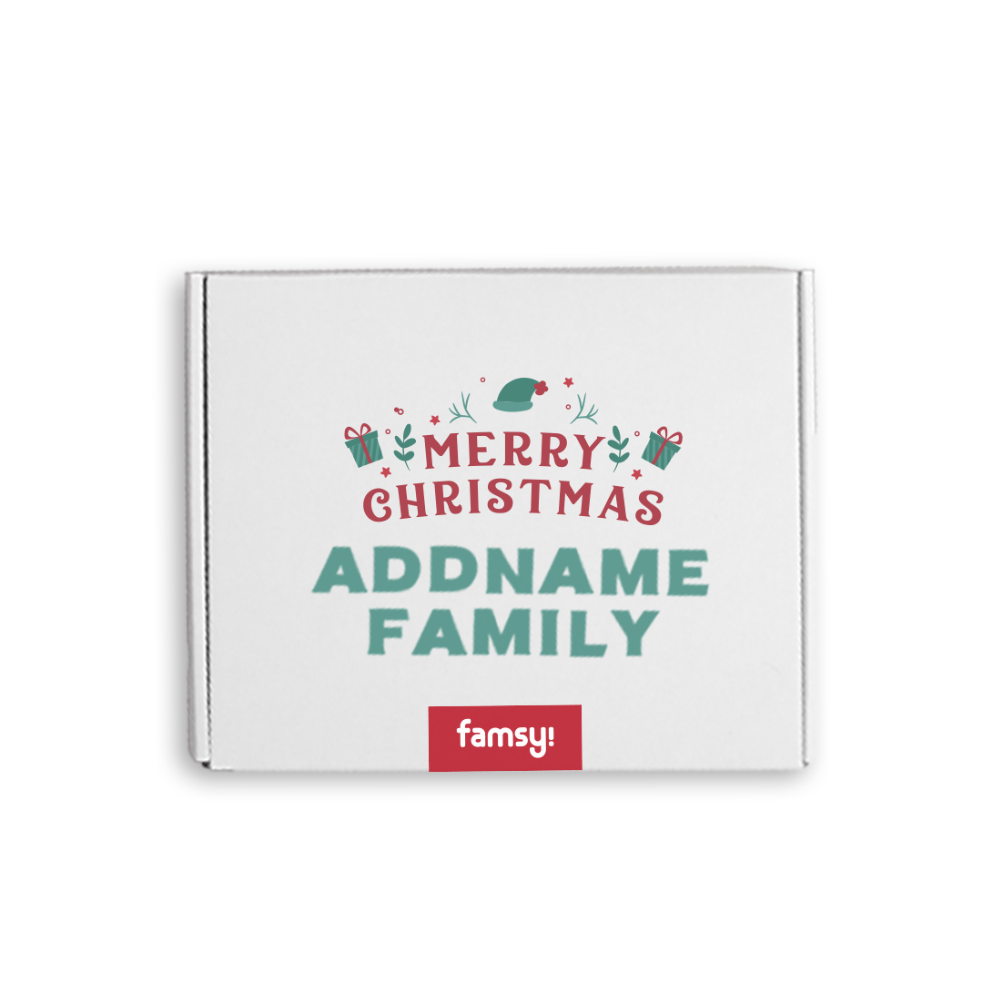Personalised Large Family Christmas Gift Box