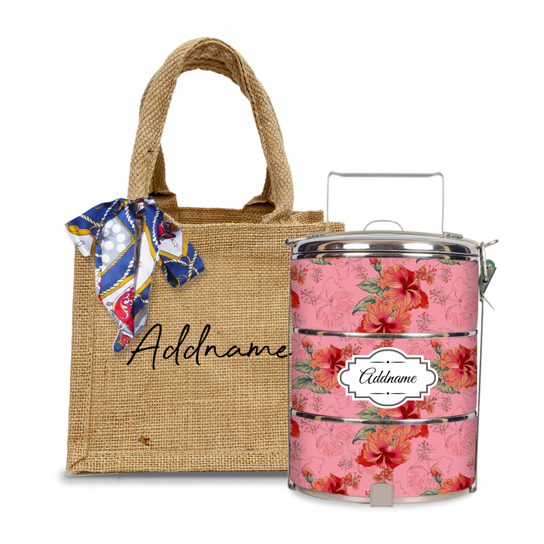 Hibiscus Tiffin Carrier Set