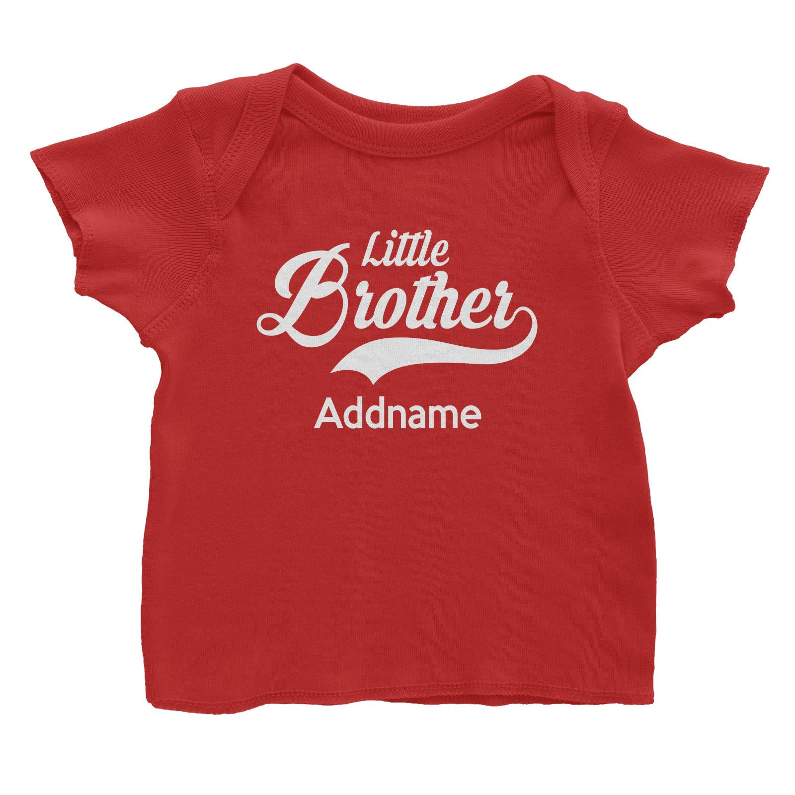 Retro Little Brother Addname Baby T-Shirt