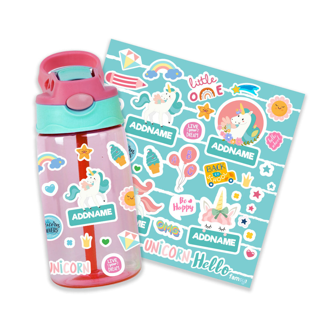 Fabulous Unicorn Pink Kiddies Bottle