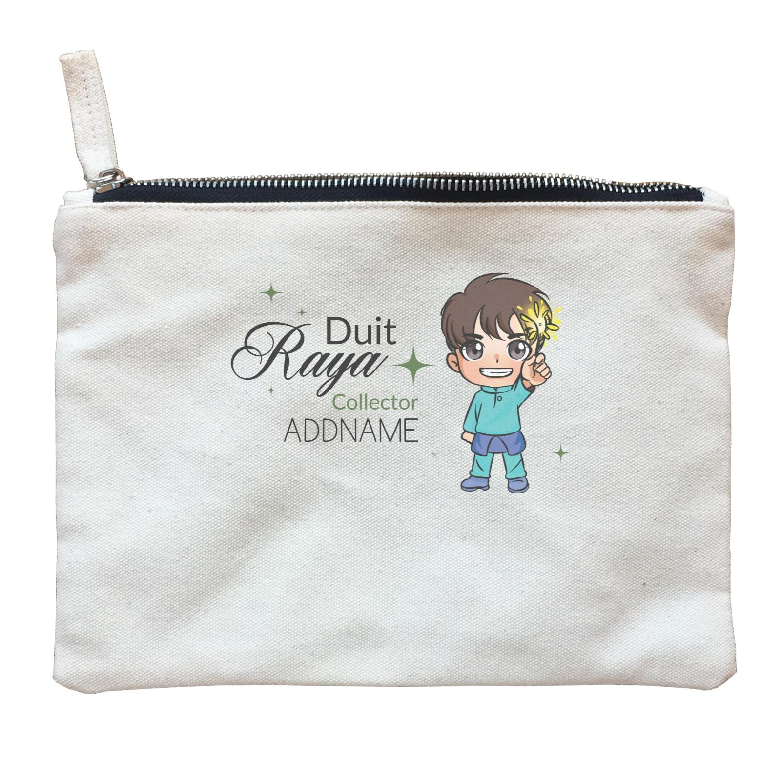 Raya Chibi Little Boy Duit Raya Collector Addname Zipper Pouch
