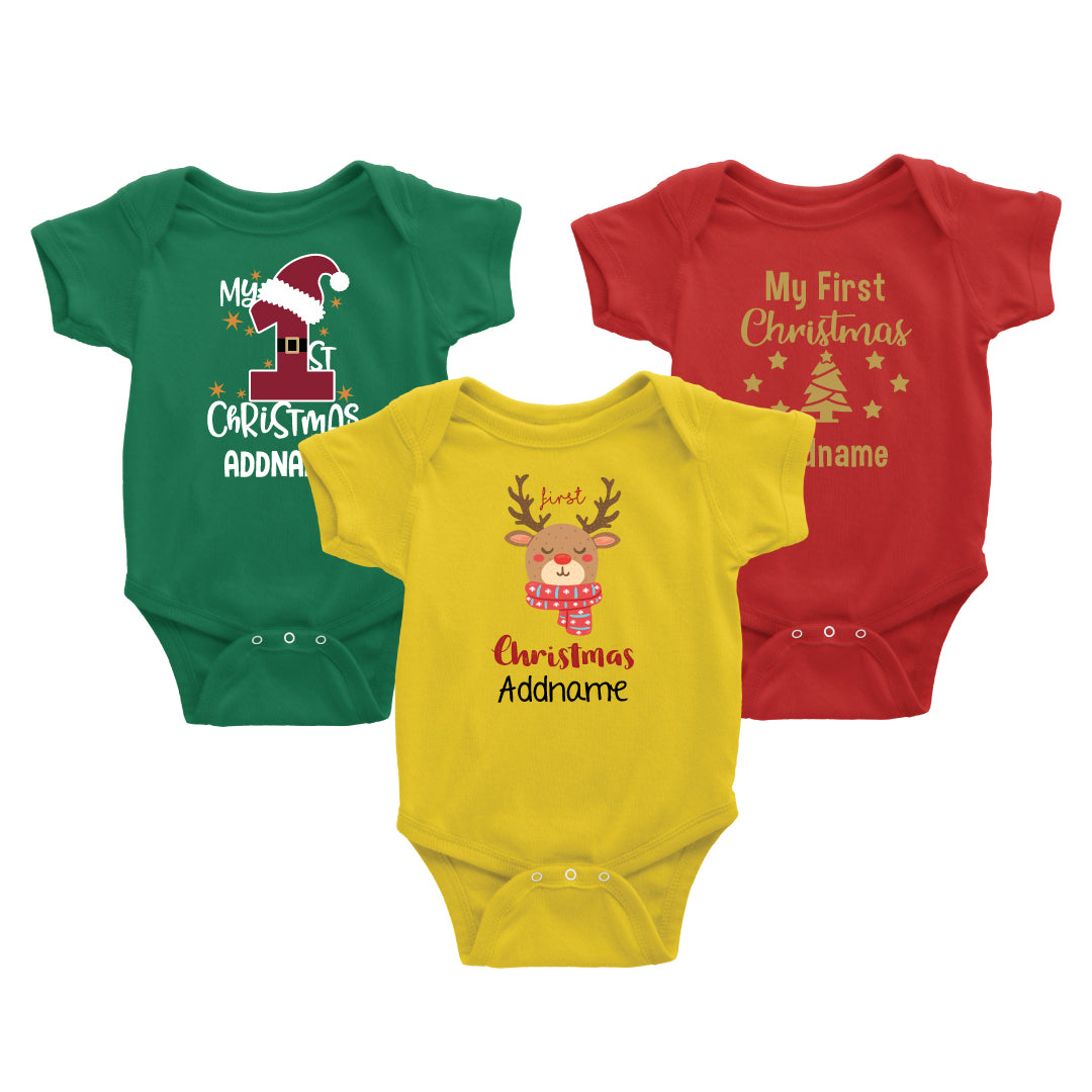 My First Christmast Baby Family Matching Outfit
