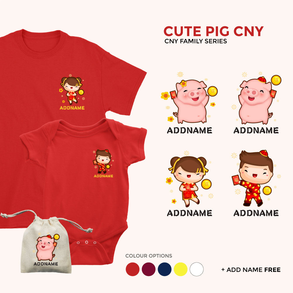 CNY Cute Pig Decorative Family Collection
